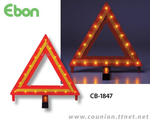 Flashing Light Warning Triangle-CB-1847