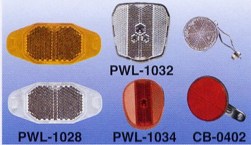 PWL-1028 Front & Rear Reflector, Spoke Reflector